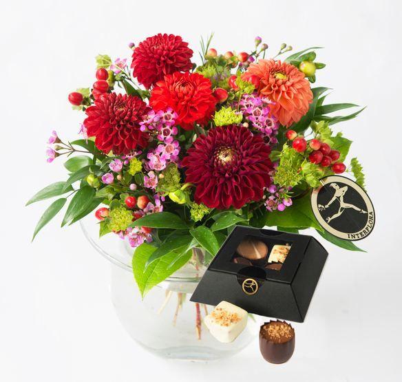 Høstlykke med sjokolade fra Interflora. Om denne nettbutikken: http://nettbutikknytt.no/interflora-no/