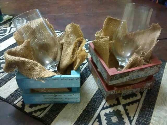 Cajoncitos con vaso