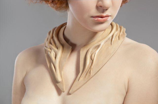 Drewniana kolia  #fashion #moda #kolia #biżuteria #jewellery