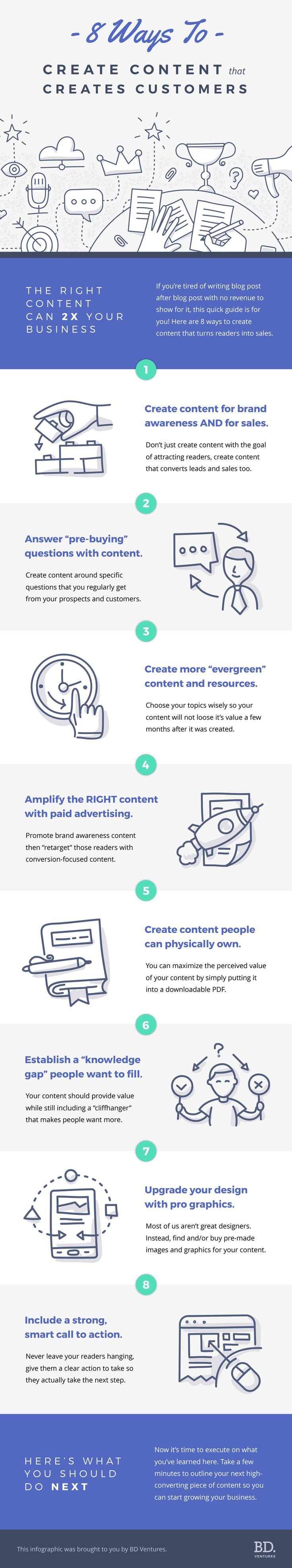8 Ways To Create Content That Creates Customers - #Infographic