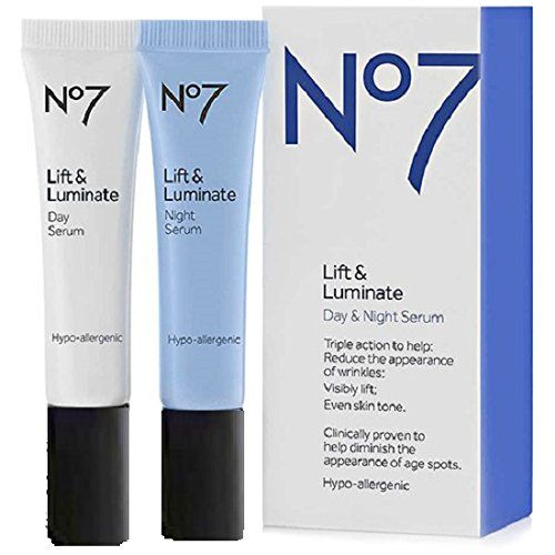 BOOTS Boots No7 Lift  Luminate Day  Night Serum 05 oz >>> Click on the image for additional details.