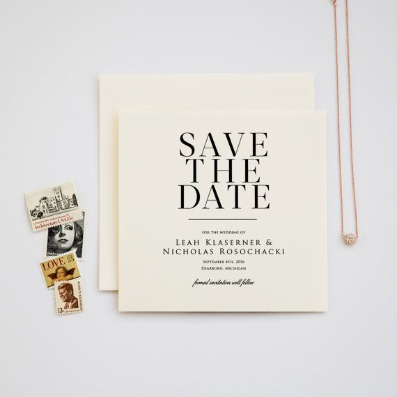 Lovely in Lux Save the Date by ChampagnePress on Etsy