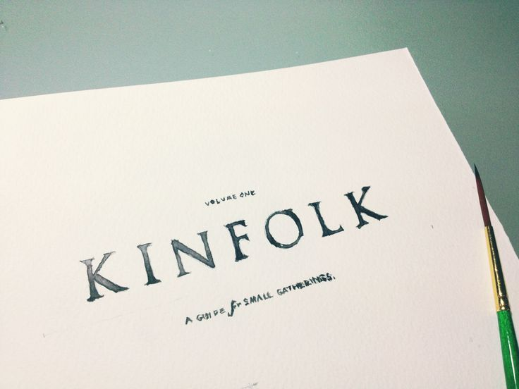 Practice: Kinfolk's watercolor logo .