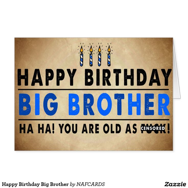 Happy Birthday To My Big Brother Quotes: 27 Best Images About Brother Birthday On Pinterest