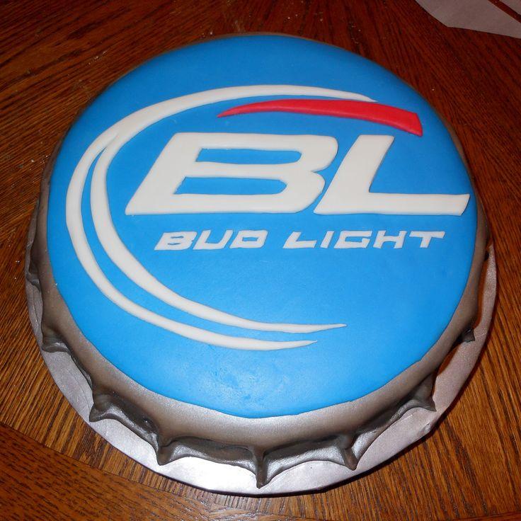 budlight bottle cap cake   Carlas Cakes: Bud Light Bottlecap