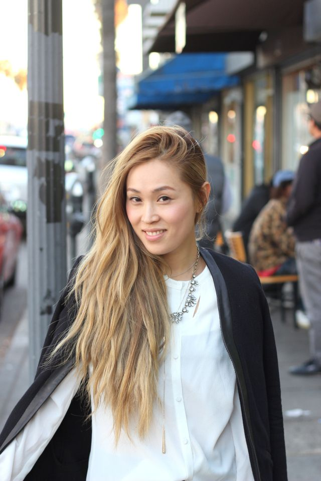 Blonde Asian Kinda Cute Color Hair And Makeup