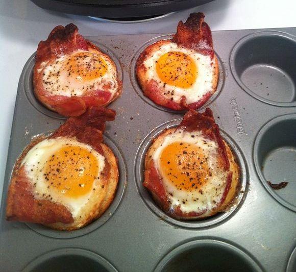 Bacon & Egg Cupcakes <3 POSSIBLE CHRISTMAS BREAKFAST
