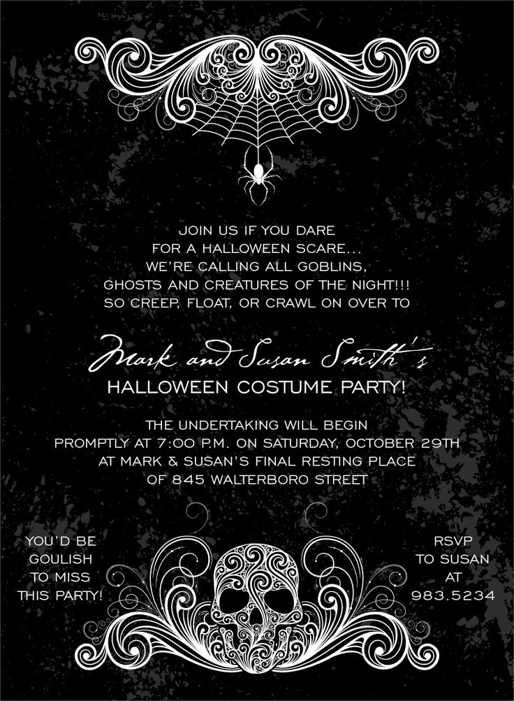 108 best Halloween Invitations images on Pinterest | Halloween party ...