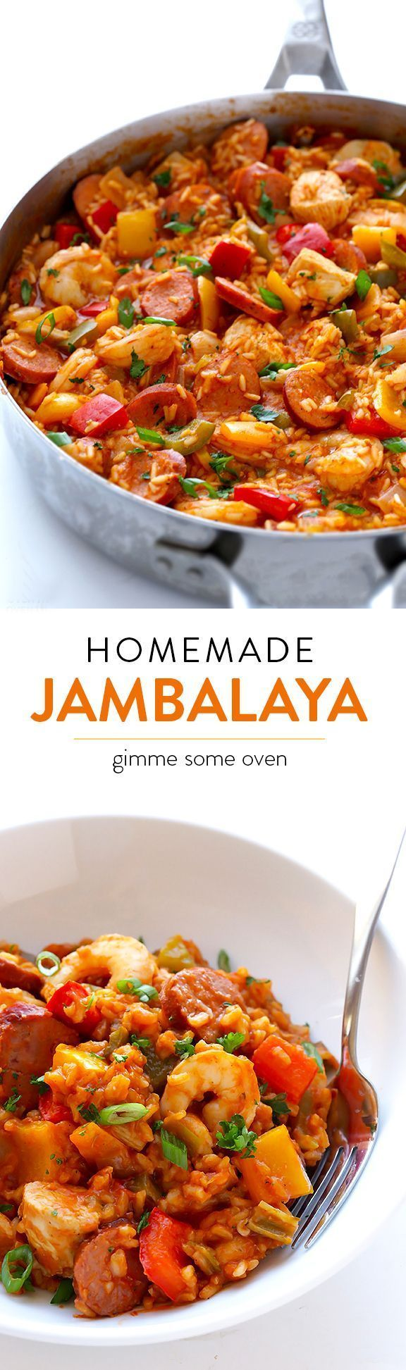 Learn how to make homemade jambalaya with this delicious (and easy!) recipe | http://gimmesomeoven.com