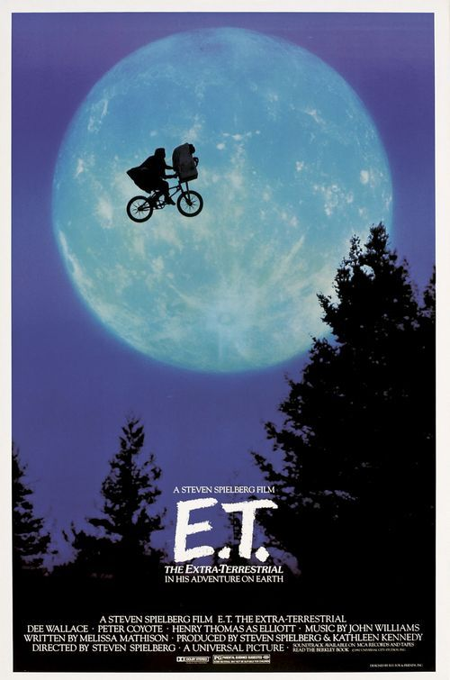 E.T.  Sweet buddy movie, that still captures my imagination.