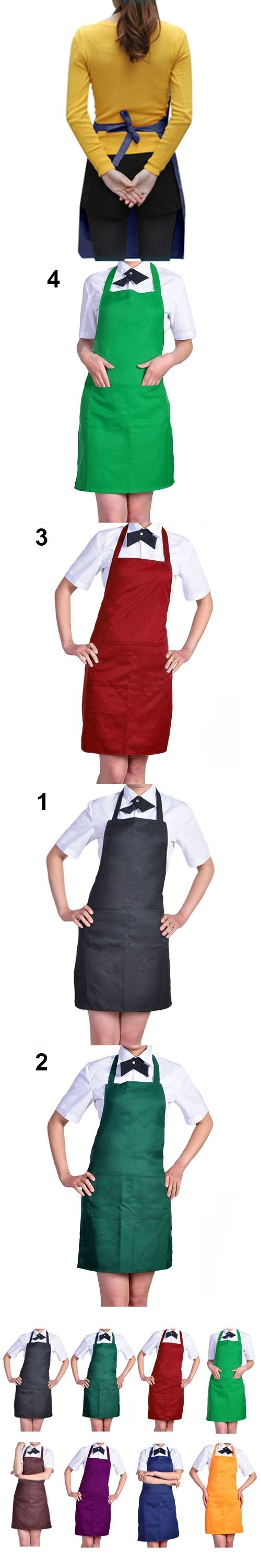 Women's Fashion Easy to Clean Apron with Front Pocket for Chefs Butchers Retail/Wholesale  8T7U