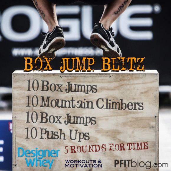 Alternate sets of box blitz with stadium run and sprints :)