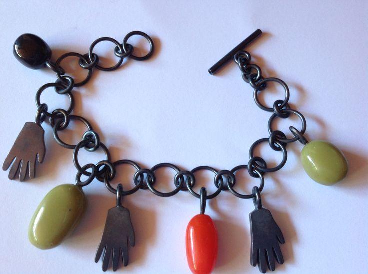 Oxidized silver bracelet by Gerika Langenhoven