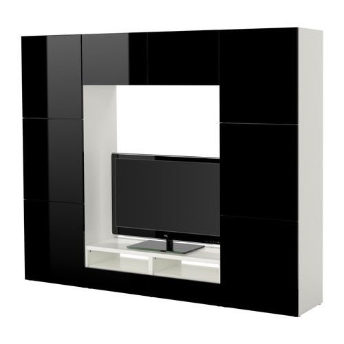 best tv storage combination ikea adjustable shelves can be arranged according to your needs adjustable feet for stability on uneven floors - Meuble Tv Noir Ikea Lack