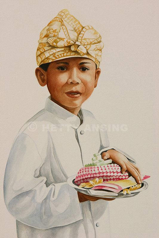 Boy with offering