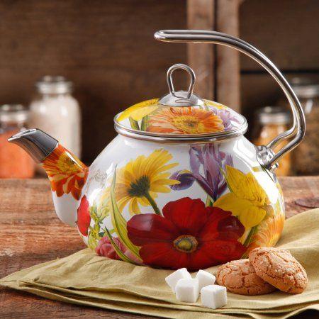 For Rhonda for Christmas - The Pioneer Woman Flower Garden 2.3 qt Tea Kettle
