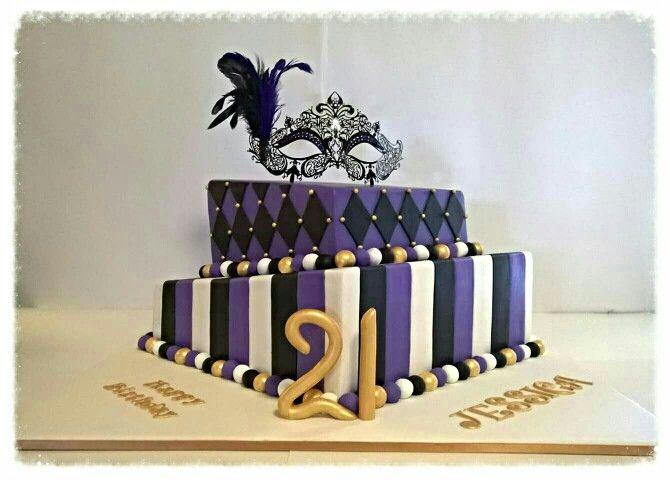 21st Birthday Masquerade cake.