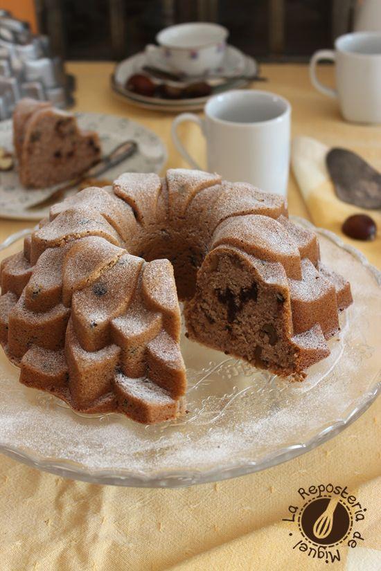 Bundt Cake de Castañas, Nueces y Chocolate
