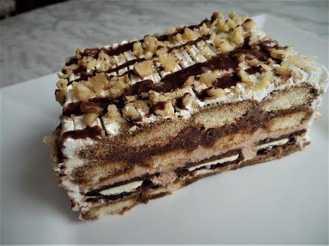 Prajitura cu ciocolata si frisca in 5 minute
