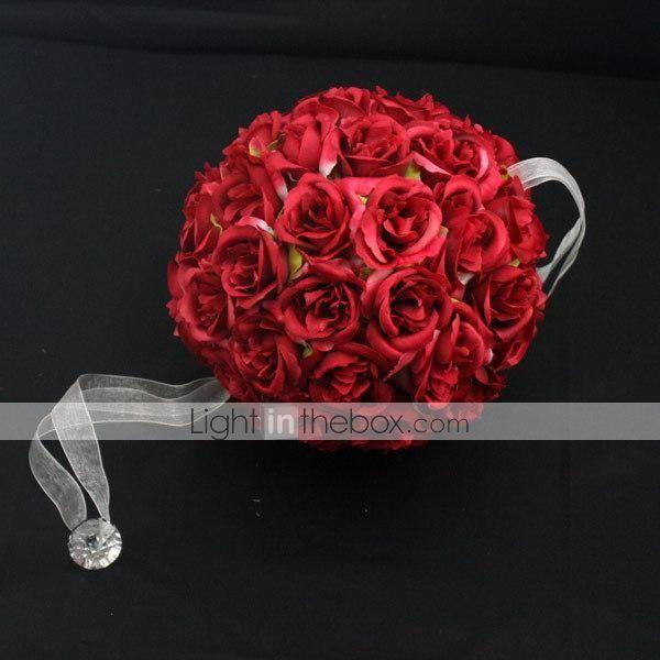 """decorazioni wedding 6 """"bouquet da sposa palla fiore artificiale per la decorazione del partito (diametro 15 cm) del 2015 a €18.99"""