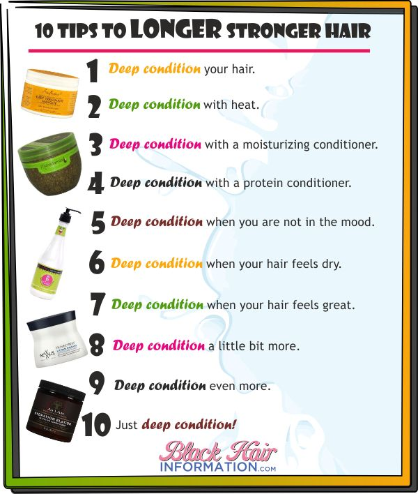 10 tips to longer stronger hair