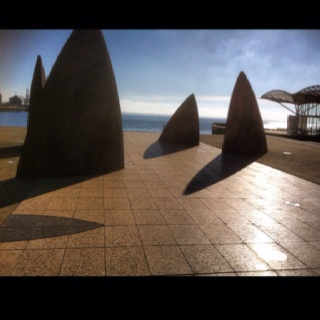 Geelong waterfront on Corio Bay, Victoria