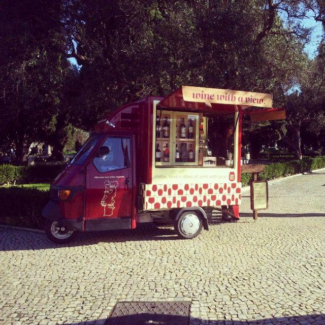 Wine with a view @ Belém, Lisbon, Portugal #foodtrucksportugal #mystreetvendors #streetvendors