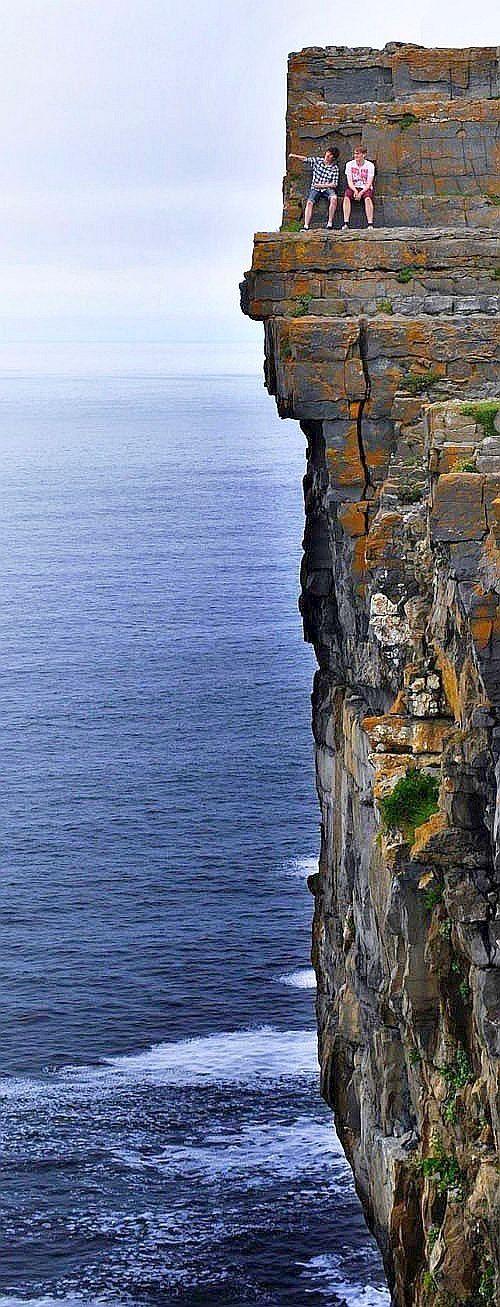 Daredevil Cliffs, Inishmore coastline, Aran Islands, Ireland. http://traveloxford.blogspot.com/2014/02/daredevil-cliffs-inishmore-coastline.html
