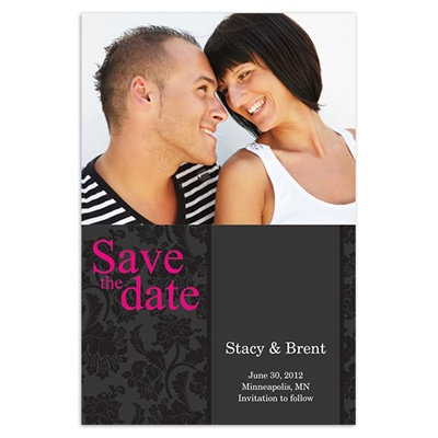 Black Velvet Save the Date Cards - Walmart Stationery