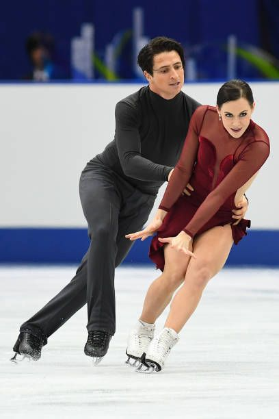 Tessa Virtue and Scott Moir of Canada compete in the Ice dace free dance during the ISU Grand Prix of Figure Skating at Osaka municipal central...