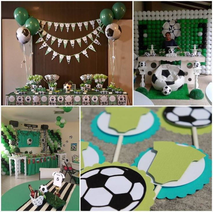 decoracion de baby shower de futbol