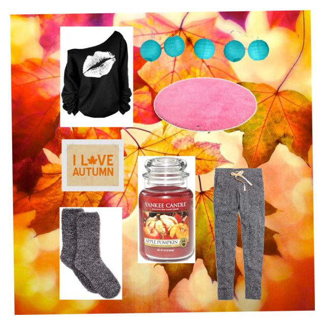 """""""Fall is here !!!"""" by yazzylovexoxo on Polyvore featuring interior, interiors, interior design, home, home decor, interior decorating, Madewell, Charter Club, Yankee Candle and Room Essentials"""