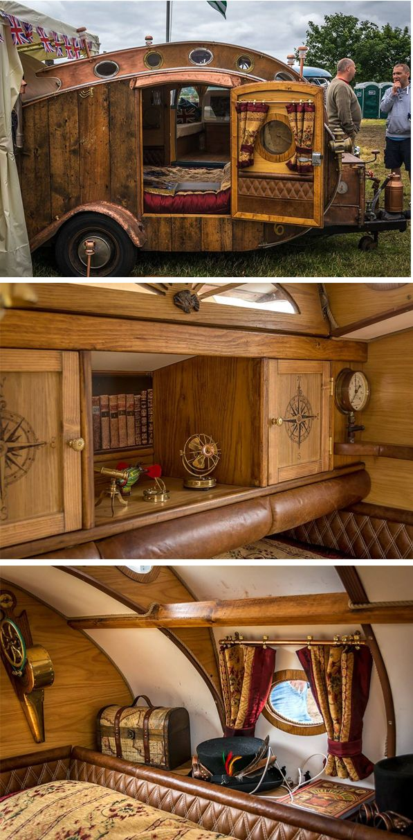 Steampunk Teardrop Caravan, pics by Jeff Palmer..Re-pin brought to you by agents of #Carinsurance at #HouseofInsurance in Eugene, Oregon