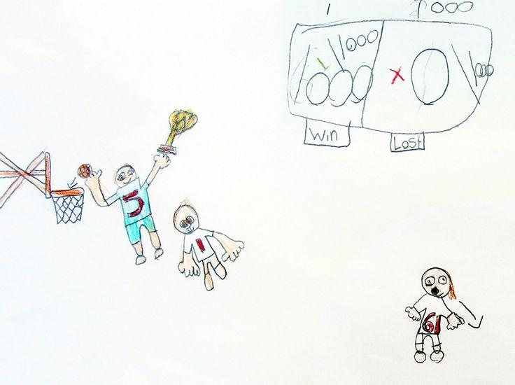 Le beau joueur est toujours gagnant : dessin d'un #élève de l'école élémentaire catholique Saint-Vincent. #octoeeo