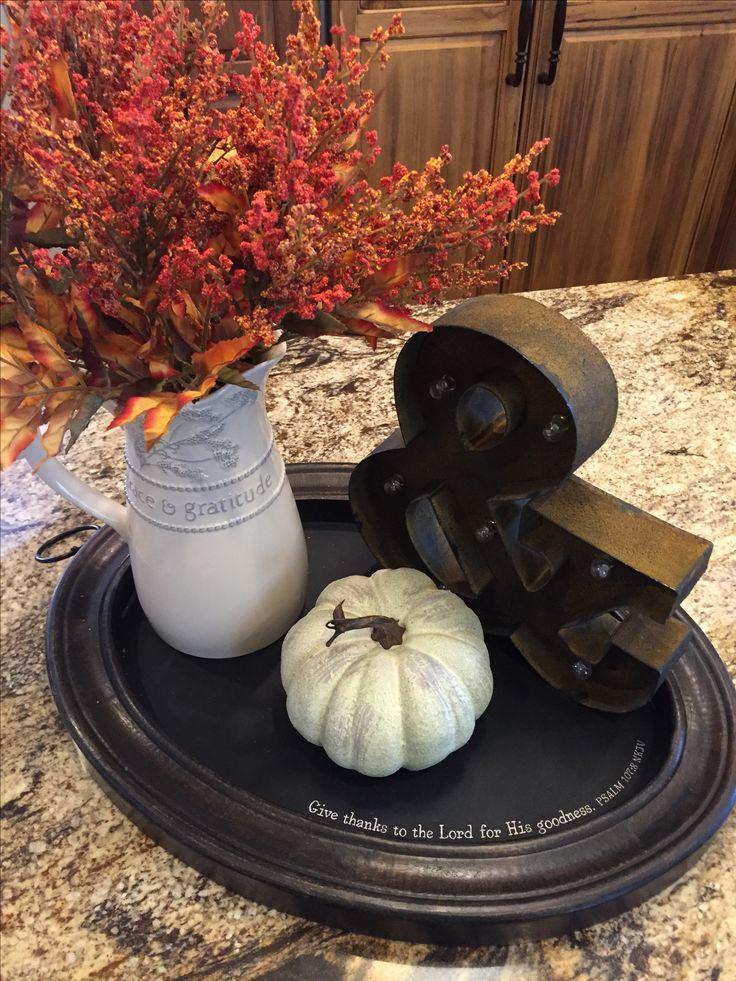 Grace&Gratitude Pitcher and Chalkboard Tray from Mary&Martha. Combining work & faith.  www.mymaryandmartha.com/sandypiland