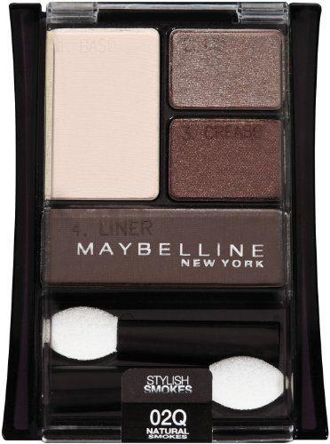 Maybelline New York Expert Wear Eyeshadow Quads, Stylish Smokes, 02q Natural Smokes, 0.17 Ounce