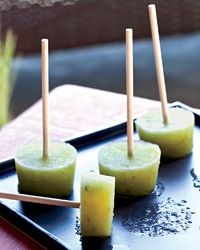 Cucumber-Lime Pops with Gin Recipe
