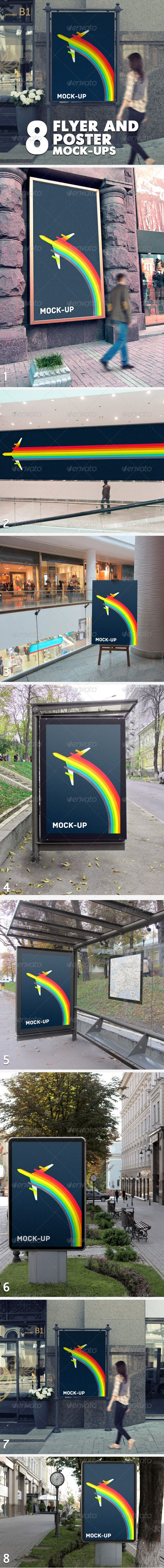 6 poster design photo mockups 57079 - Flyer And Poster Mock Ups