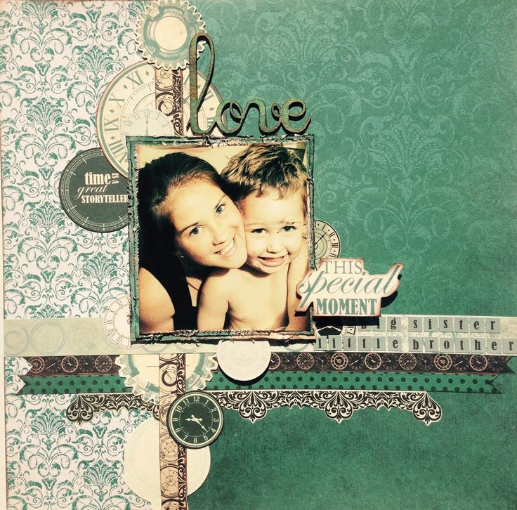 'This Special Moment' girl layout by Alison Bevis for Kaisercraft August 'Time Machine' collection ~ Kids Layouts.