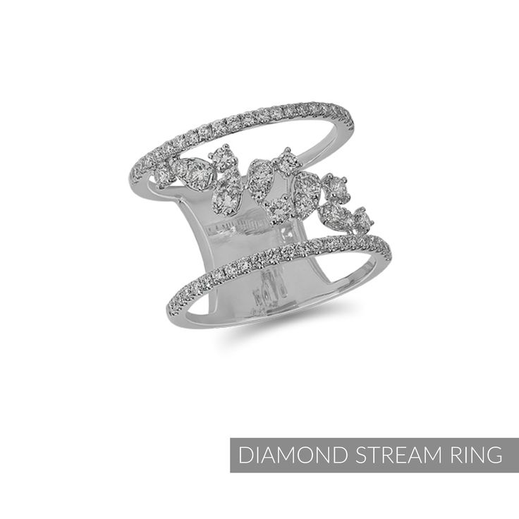 This December at Dana's Goldsmithing, enjoy our monthly featured #jewellery items - on sale all month long.   Like our #DIAMOND STREAM #RING 14 Karat White Gold Diamond Fashion Ring from the Forever Moments 'Luminance' Collection with .78 Carat Total Diamond Weight. #30254  Regular Price: $2,398. #SALE PRICE THIS DECEMBER: $1,918. https://www.danasgoldsmithing.com/products/diamond-stream-ring