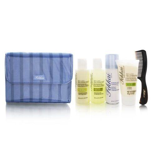 """Frederic Fekkai ADVANCED Brilliant Glossing Travel Faves Kit by Frederic Fekkai. Save 30 Off!. $31.55. Maintain your style """"on the go"""" with this travel hair kit.. Who is it for?Women with normal to dry, dull hair, who seek moisture and radiant, reflective shine.Why is it different?Maintain your style """"on-the-go"""" with portable sizes of your favorite Fekkai Brilliant Glossing products including our shampoo, conditioner and Glossing Cream which restore shine with olive oil, along with travel..."""