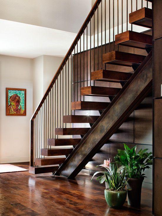лестница лофт. Ступени брус