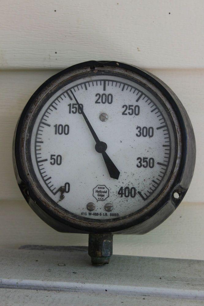 Vintage acco helicoid air pressure gauge industrial steampunk art art gauges and vintage - Steampunk pressure gauge ...