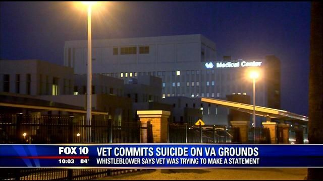 Vet commits suicide on VA administration grounds after the doctors told him he was going to die. The VA is getting worse. What the HELL is wrong with people.