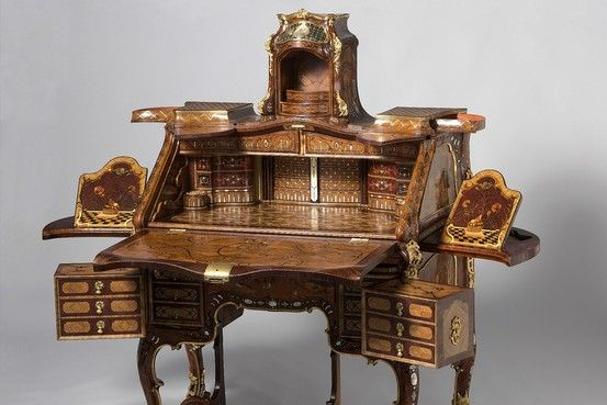 """This isn't just cabinetry; it's theatre—the opulent, technical theater of Abraham Roentgen (1711-1793) and his son David (1743-1807), two of the 18th-century's outstanding cabinetmakers. """"Extravagant Inventions: The Princely Furniture of the Roentgens,"""" at the Metropolitan Museum of Art, is the first comprehensive survey of this German partnership's legacy"""