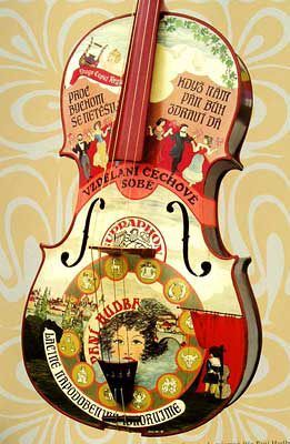 painting violoncello by Mirka 1982-83