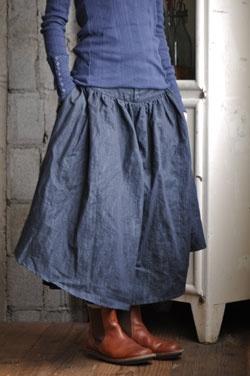 Kelen (Japan) - cotton skirt - buttoned cuff