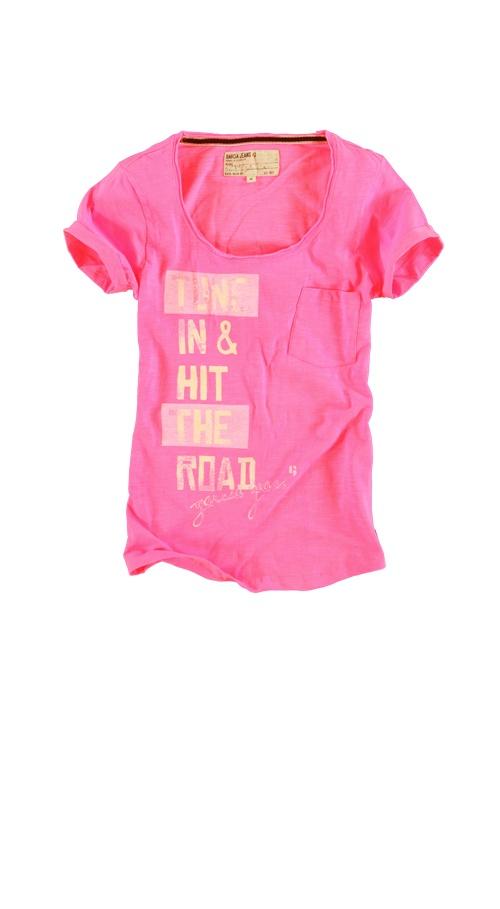 T-shirt Garcia E30015 MANU WOMEN 396 Neon pink