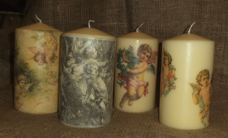 I just love my cherubs! Yet more of my cherub-decorated candles for table, mantle or hearth. More of my napkin decoupage work can be viewed on www.facebook.com/yourlovelyhome(StephanieSinclair) and in my Folksy shop folksy.com/shops/YourLovelyHome