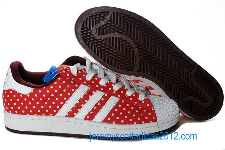Adidas Superstar II 2 Womens W Sport Red White Dot 2011 Cute Womens Skate Shoes